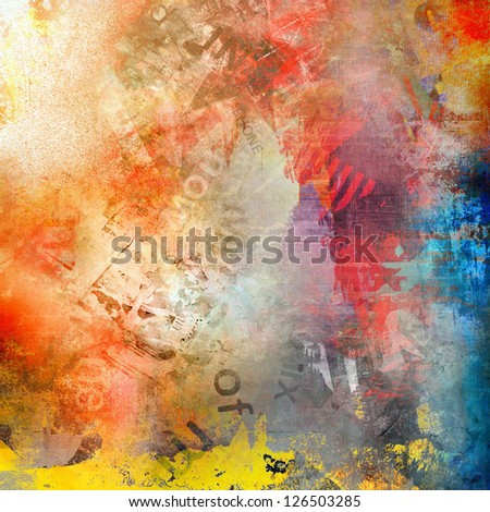 Grunge abstract background, colorful illustration