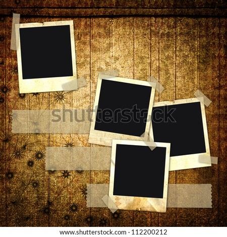 Grunge abstract background with frames for a photo. - stock photo