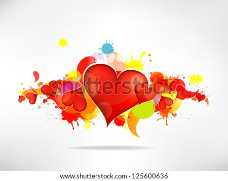 Grunge abstract background with heart - stock photo