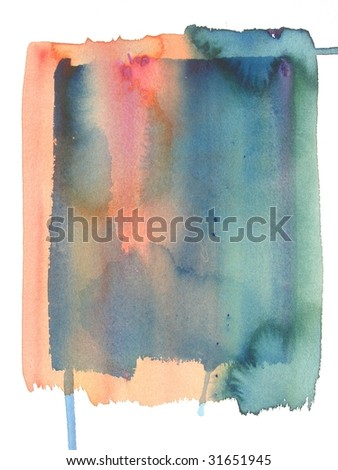 grunge abstract watercolor background - stock photo