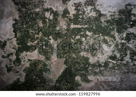 Grunge aged  vignetted background texture very old with rust and mold - stock photo