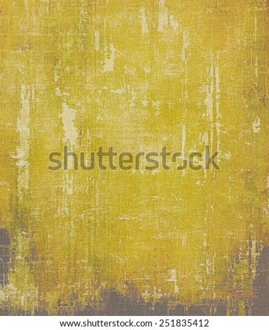 Grunge aging texture, art background. With different color patterns: yellow (beige); brown; black - stock photo