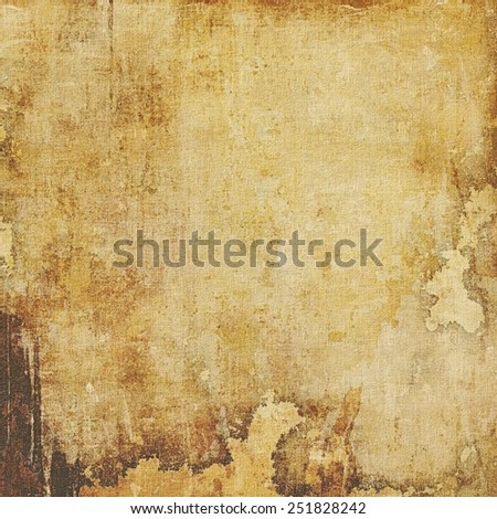 Grunge aging texture, art background. With different color patterns: yellow (beige); brown; gray; black - stock photo