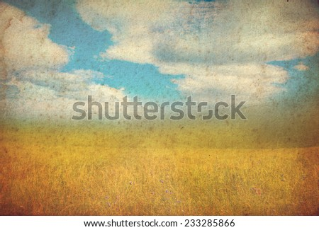 grunge autumn background with space for text - stock photo