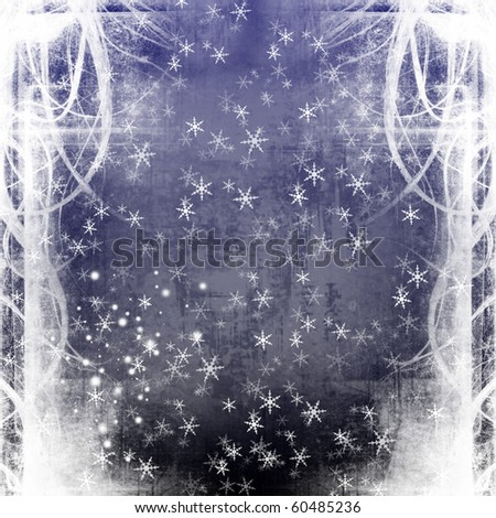 grunge background Christmas (New Year) christmas card. - stock photo
