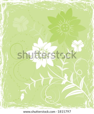 Grunge background flower, elements for design, illustration