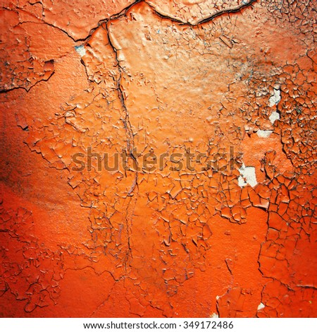 Grunge background. Frame for text. Copy space. Street graffiti closeup. Aged photo. Vintage photo. Color wall macro background. City building decay texture. Toned effect. Retro filter. - stock photo