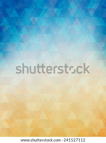 Grunge background in blue and beige color - stock photo