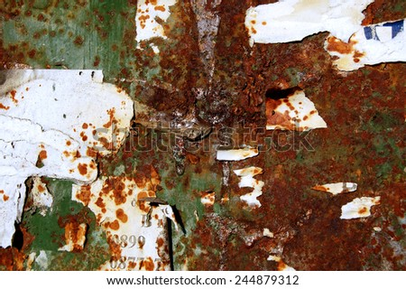 Grunge background in green and rusty colorful texture  - stock photo