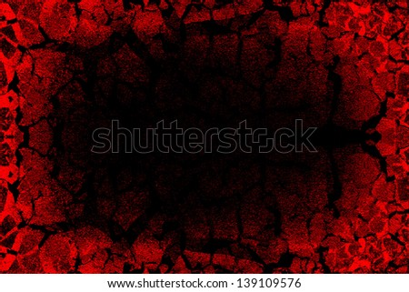 Grunge Background  Mixed With Cracked Painting - stock photo