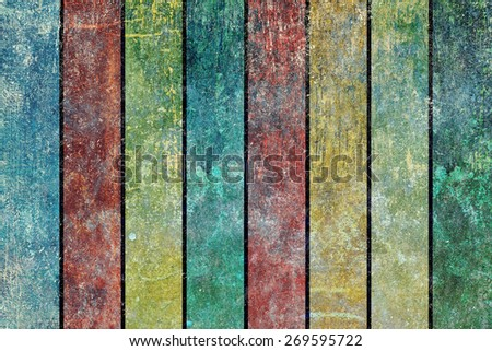 Grunge background texture design with vertical stripes of alternating colors.