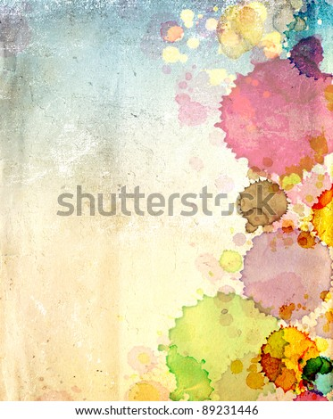 Grunge background. Texture old paper with stains of paint - stock photo