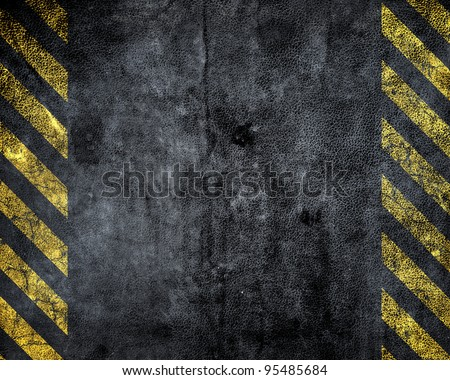 grunge background with a strip of danger - stock photo