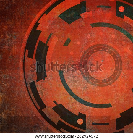Grunge background with abstract geometric pattern