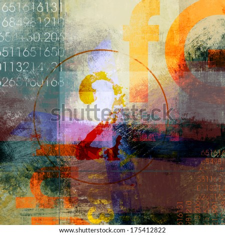 Grunge Background with abstract grunge elements - stock photo