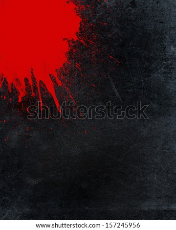 Grunge background with blood splatter