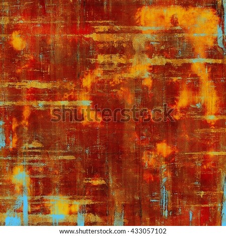 Grunge background with delicate aged texture. Antique backdrop with retro vintage elements and different color patterns: yellow (beige); brown; blue; red (orange); pink - stock photo