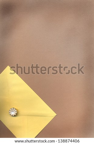 grunge  background with  envelope - stock photo