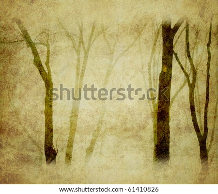 grunge background with trees