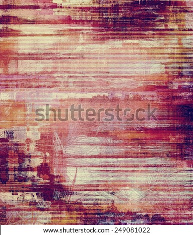 Grunge background with vintage and retro design elements. With different color patterns: yellow (beige); brown; purple (violet); red (orange); pink - stock photo