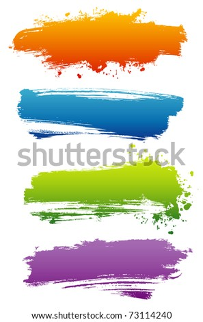 Grunge banners - stock photo