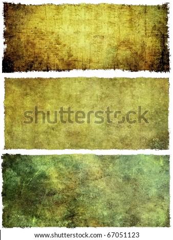 Grunge banners set - stock photo