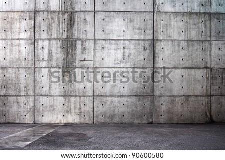 Grunge bare concrete room. interior Uneven diffuse lighting version. Design component - stock photo
