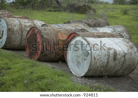grunge barrels - stock photo