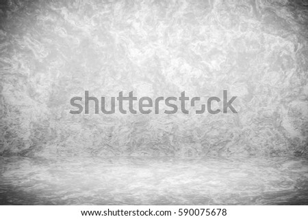 Grunge black and white studio backdrop with space for vintage presentation background 3d rendering