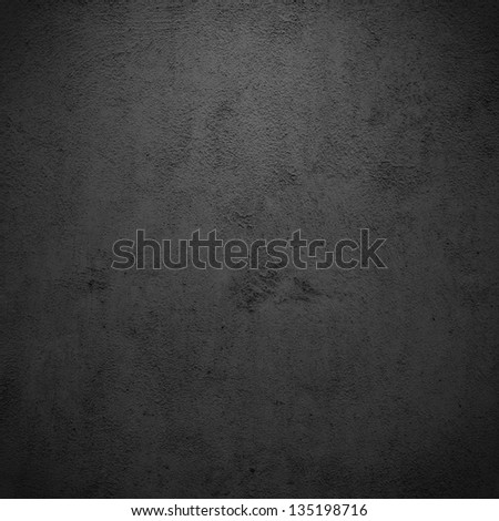 Grunge black/gray plaster or concrete texture or background. - stock photo