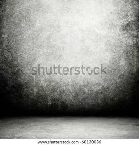 Grunge Black Interior - stock photo