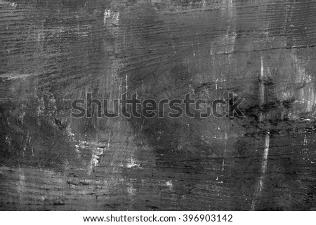 Grunge black painted abstract wood board texture background - stock photo