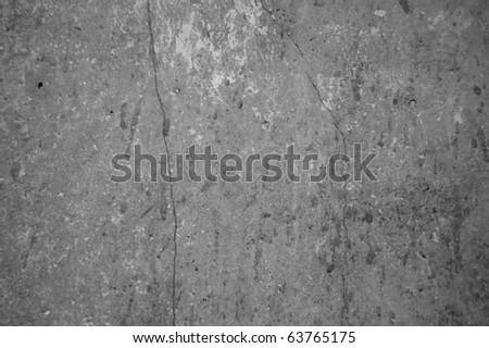 Grunge black wall (urban texture) - stock photo