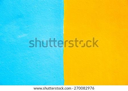 grunge blue and orange (colour two tone) background - stock photo
