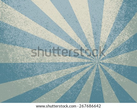 grunge blue beige ray - stock photo