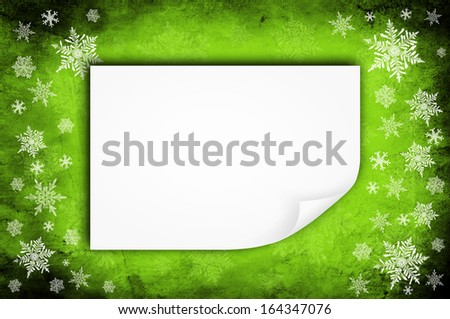 Grunge blue paper background or texture - christmas theme