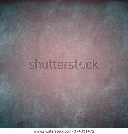 Grunge Blue Pink Texture Shabby Square Background with Blurring Inside Vintage  - stock photo