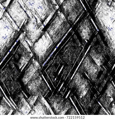 Grunge blue seamless pattern black and white abstract texture background of cracks scuffs