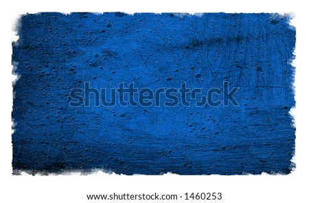 Grunge Blue Textured background on white - stock photo