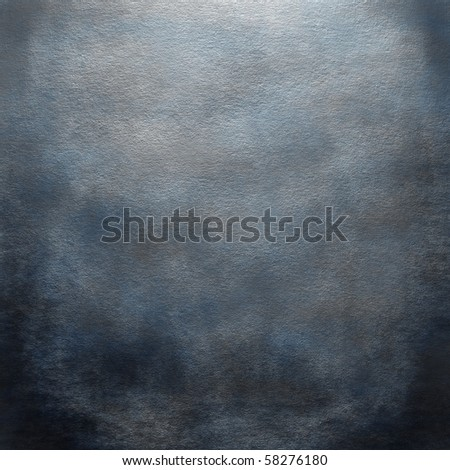 Grunge blue wall - stock photo