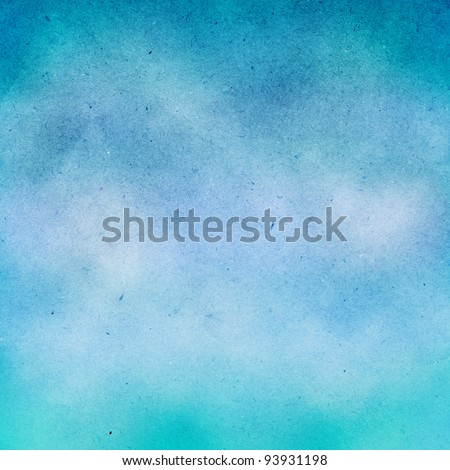 grunge blue water color background. - stock photo