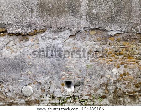 Grunge Brick and Stone Wall - stock photo