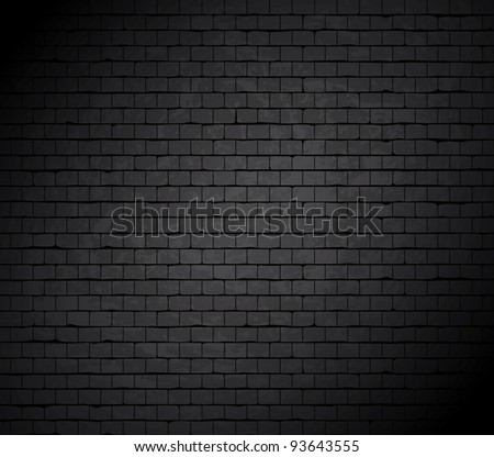 Grunge brick wall. Vector background. - stock photo