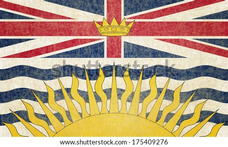 Grunge British Columbia Flag - stock photo