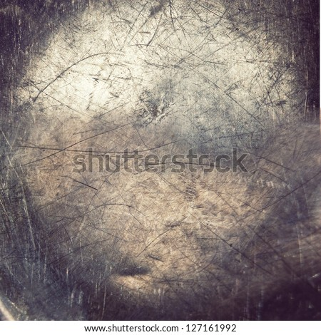 grunge bronze plating ;  metal background - stock photo