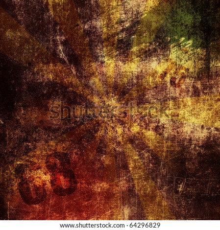 Grunge brown background, Distressed texture - stock photo