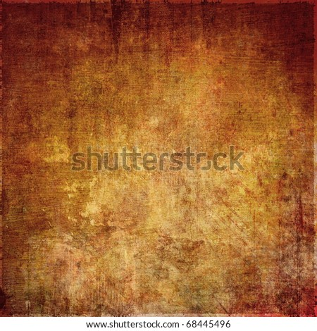 Grunge brown background, old scratched surface - stock photo