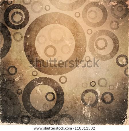 Grunge brown poster - stock photo