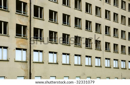 grunge building frontage - stock photo