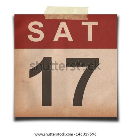 Grunge calendar on white background - stock photo